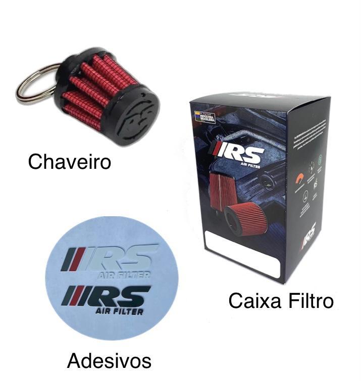 Kit Filtro De Ar Esportivo Cônico Duplo Fluxo para Ford Ka SE 1.0