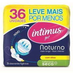 Absorvente Intimus Gel Noturno Cobertura Seca C/Abas - 36unidades