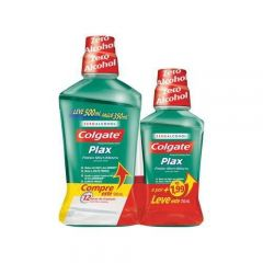 Antisséptico Bucal Plax Fresh Mint 500ml + 250ml