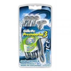 Aparelho de Barbear Gillette Prestobarba 3 Ice - 4 Unidades