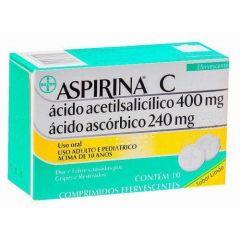 Aspirina C 400mg e 240mg com 10 Comprimidos