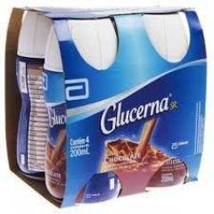 Bebida Glucerna Sabor Chocolate Pack com 4 Garrafas 200 ml