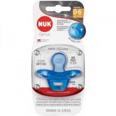 Chupeta NUK de Silicone Gênius tamanho 1 0-6 Azul