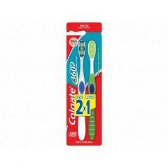 Escova de Dentes Colgate 360° Cabeça Compacta Macia Leve 2 Pague 1
