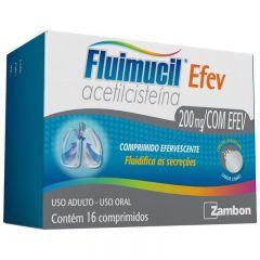 Fluimucil Efev 200mg com 16 Comprimidos Efervescente