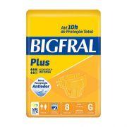 Fralda Geriátrica Bigfral Plus Grande 8 unidades