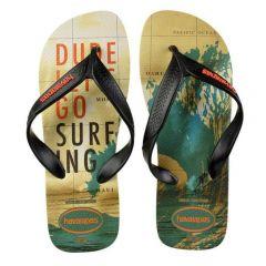Havaianas Surf Bege/preto/laranja 39/0 P