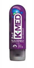K- Med 2 em 1 Gel de Massagem e Lubrificante Íntimo com 200ml