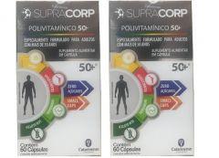 Kit com 2 caixas Polivitamínico SupraCorp 50+ Vitamina B12
