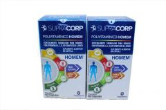 Kit com 2 Polivitamínico Supracorp Homem 60 cápsulas cada pote