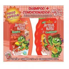 Kit Shampoo + Condicionador Nazca Acqua Kids Lisos e Finos 250ml