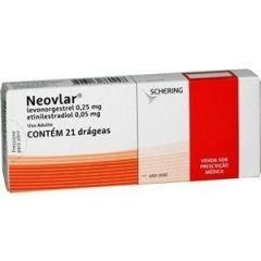 Neovlar com 21 drágeas Bayer