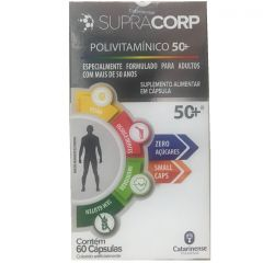 Polivitamínico SupraCorp 50+ Vitamina B12 com 60 Cápsulas