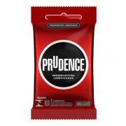 Preservativo Prudence Lubrificado com 3 Unidades
