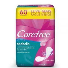 Protetor Diário Carefree Brisa sem Perfume com 60 Unidades