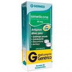 Simeticona 40mg com 20 comprimidos Germed
