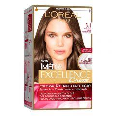Tintura Imédia Excellence Creme L'Oréal - Nº 5.1 Castanho Claro Acinzentad
