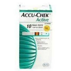 Tiras Accu Chek Active Roche - 10 unidades