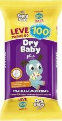 Toalha Umedecidas Dry Baby Plus /Leve 100 pague 80