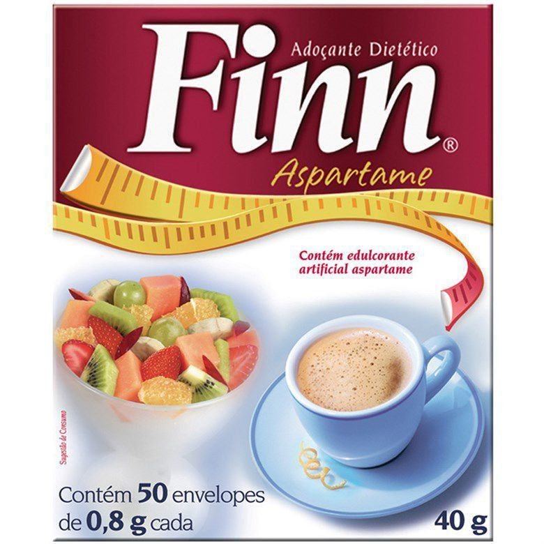 Adoçante Finn Po C/50 envelope 0,8g