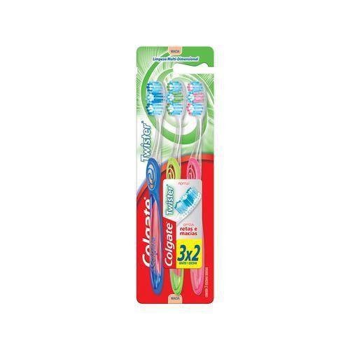 Escova Dental Colgate Twister Macia 3 Unidades