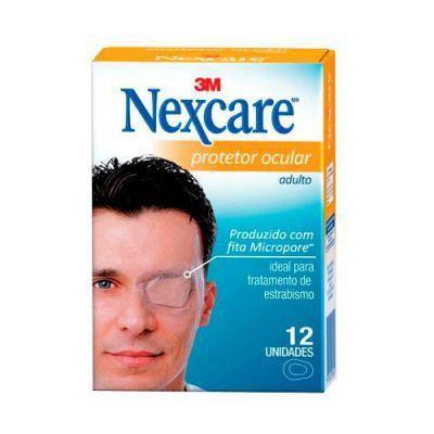 Protetor Ocular Nexcare adulto caixa com 12 unidades
