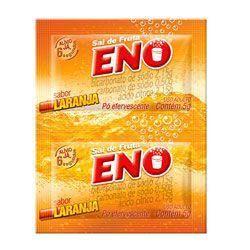 Sal de fruta Eno sabor laranja com 2 envelopes de 5 gramas