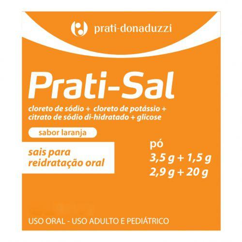 Sal de Reidratação Prati-sal com 1 envelope 28,8g Sabor Laranja