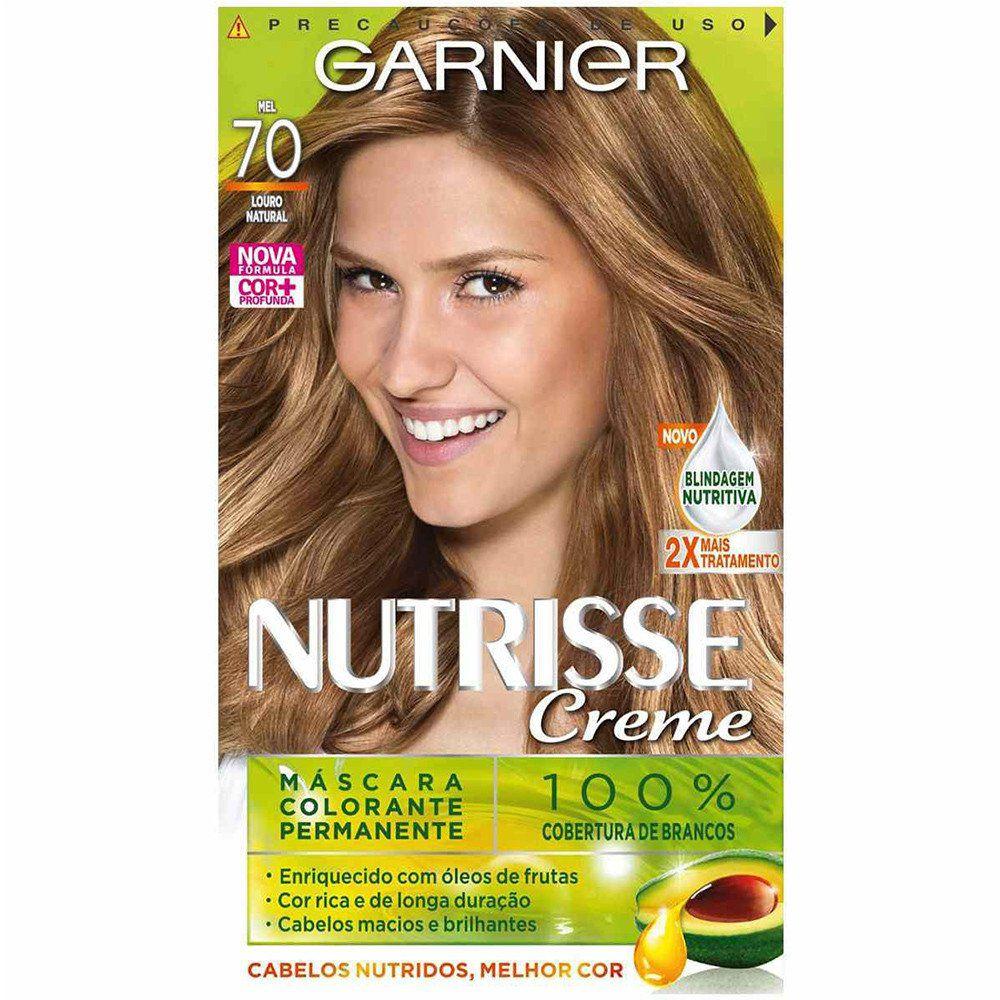 Tintura Garnier Nutrisse Creme - 70 Louro Natural Mel