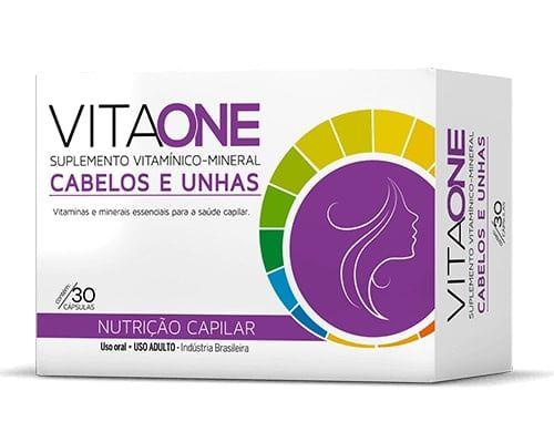 Vitaone Cabelos e Unhas Nutrição Capilar com 30 Cápsulas