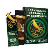 Livro - A cantiga dos pássaros e das serpentes (com dois marcadores)