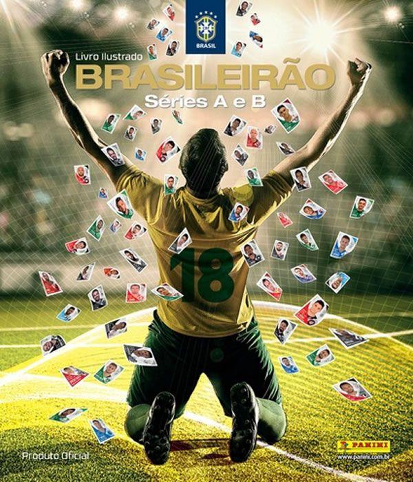 Album Campeonato Brasileiro 2018 (capa Dura) com 10 Envelopes + 05 Figurinhas Avulsas