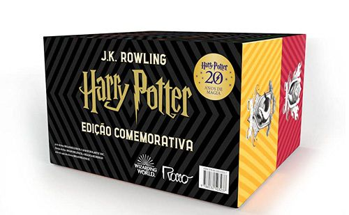 Box Harry Potter Edição Comemorativa 20 Anos capa dura