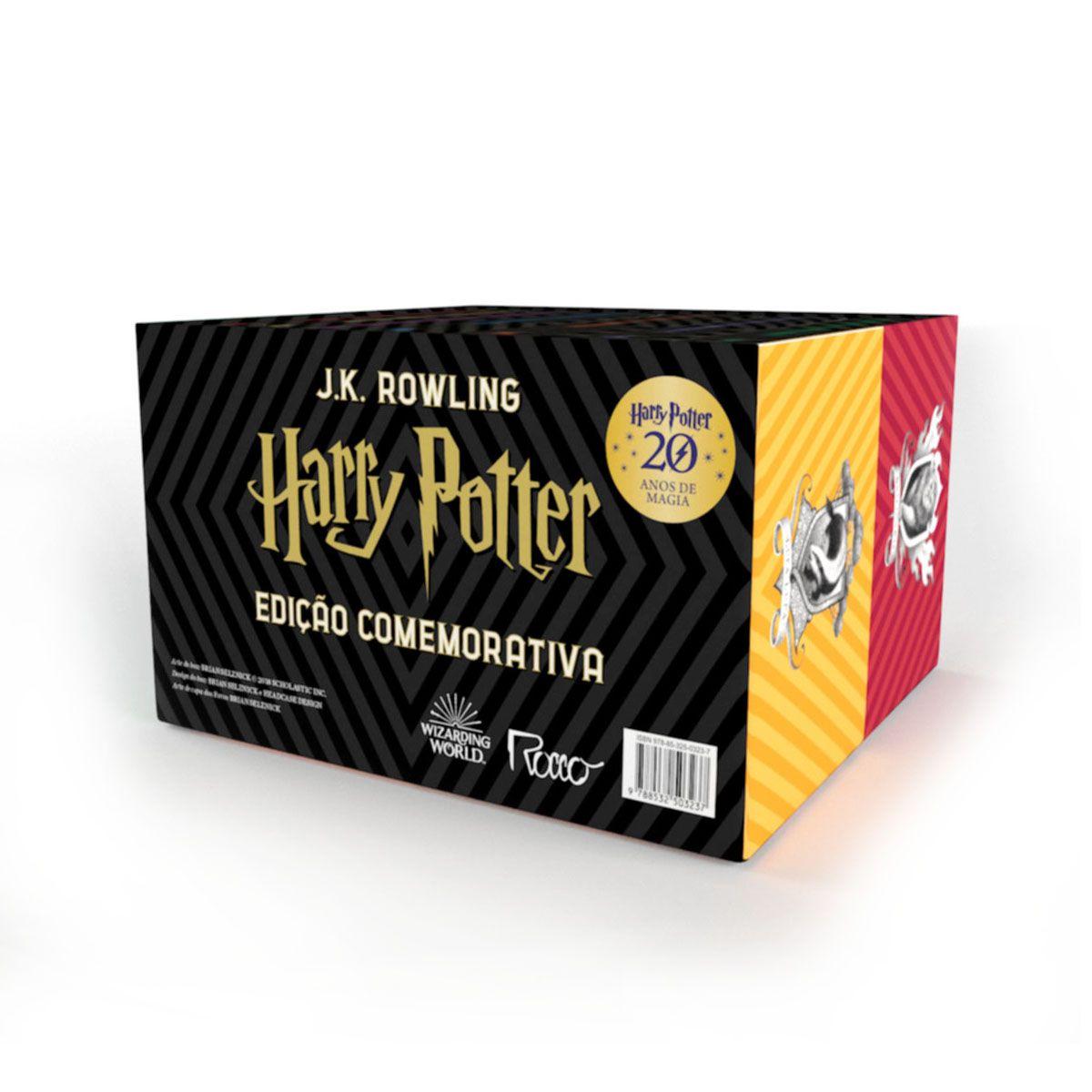 Box HARRY Potter Edicao Comemorativa 20 ANOS - Capa Dura