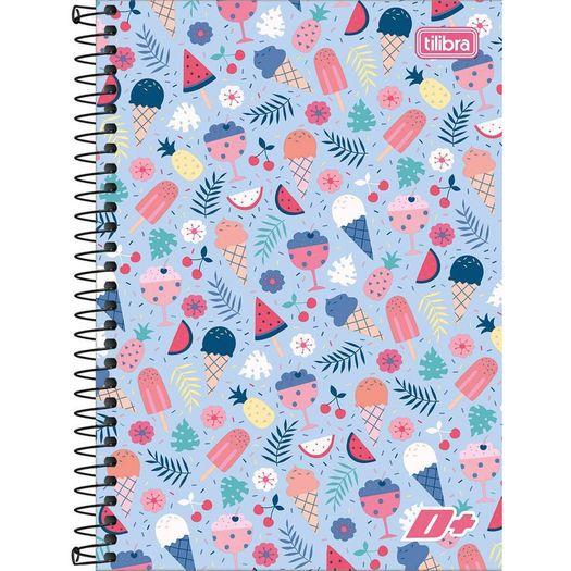 Caderno Tilibra  Espiral Capa Flexível 1/4 D+ 48 Folhas - D+ - Cadernos