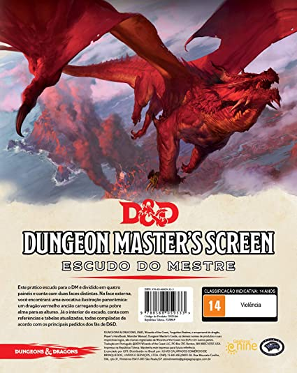 Dungeon Dragons Escudo Mestre E Starter Kit Português Rpg