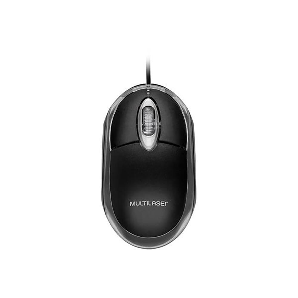 Mouse Optico Multilaser USB Preto Classic MO179