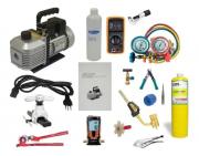 Kit de Ferramentas para Refrigeração e Ar Condicionado com Manifold