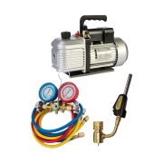 Kit de Refrigeração Com Bomba de vacuo 6 CFM tipi  Manifold Vulkan e Maçarico Suryha