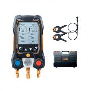 Manifold Digital Testo 550s Basico Inteligente Com Sondas De Temperatura Com Pinça De Cabo Fixo
