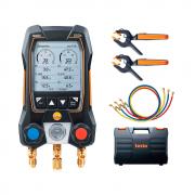 Manifold Digital Testo 550s Inteligente Com Sondas de Pinça Sem Fio E 3 Mangueiras