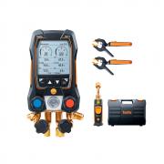 Manifold Digital Testo 557s Inteligente Com Sondas Wireless de Vacuo e Temperatura de Pinça