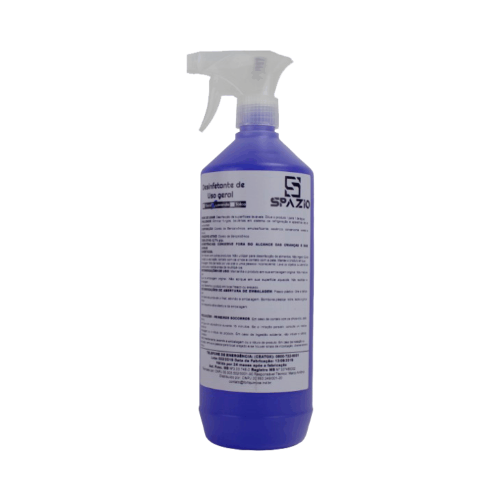 Bactericida para Ar Condicionado 1 Litro com Borrifador Lavanda - Spazio