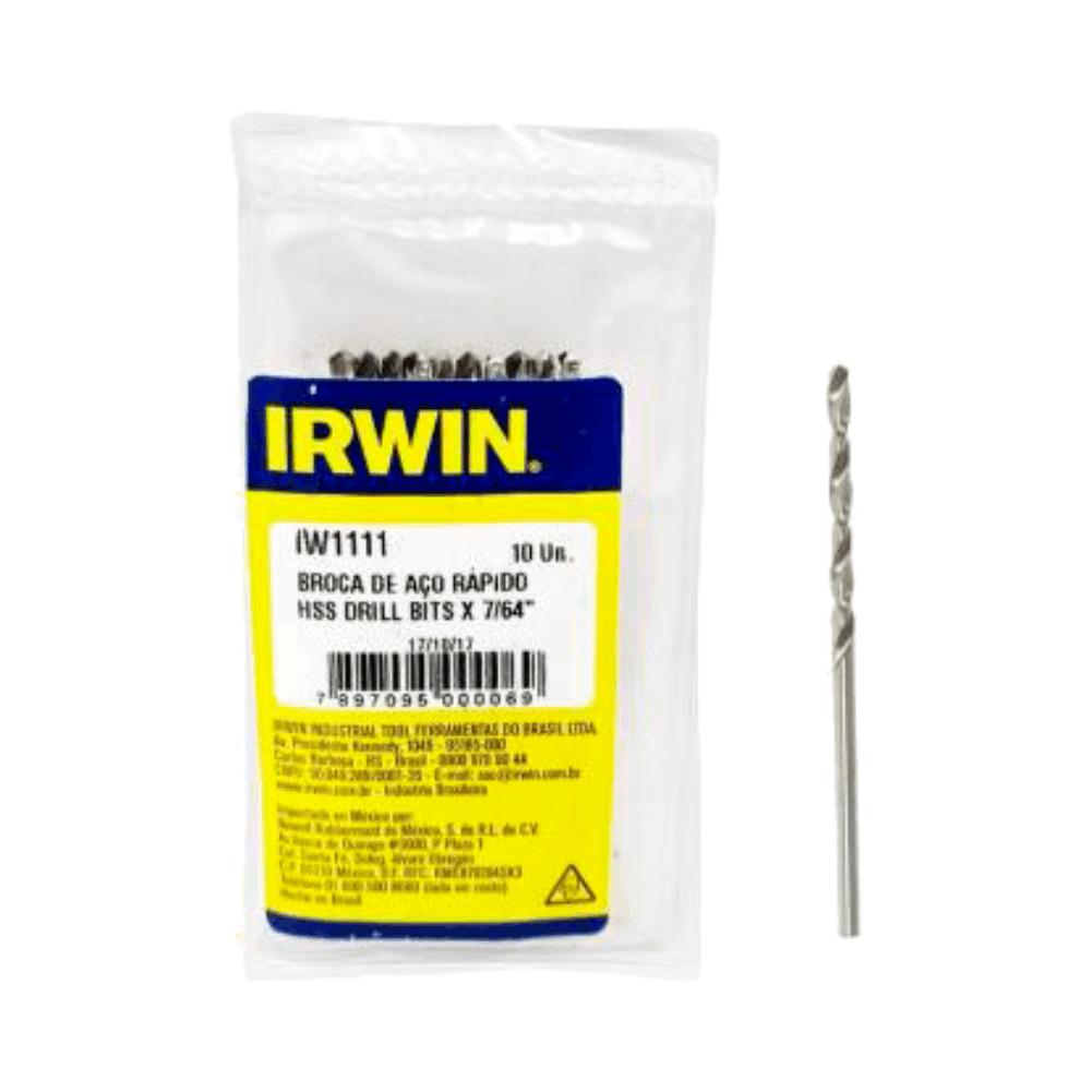"""Broca Aço Rápido 7/64"""" 2,77mm IW1111 - Irwin"""