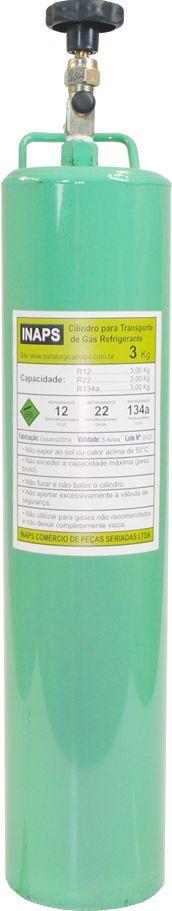 Cilindro Para Transporte De Gás Refrigerante 3Kg R22/R134a
