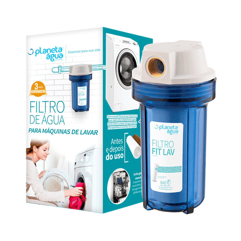 Filtro de Água Para Máquinas de Lavar FIT LAV 6900 - Planeta Água