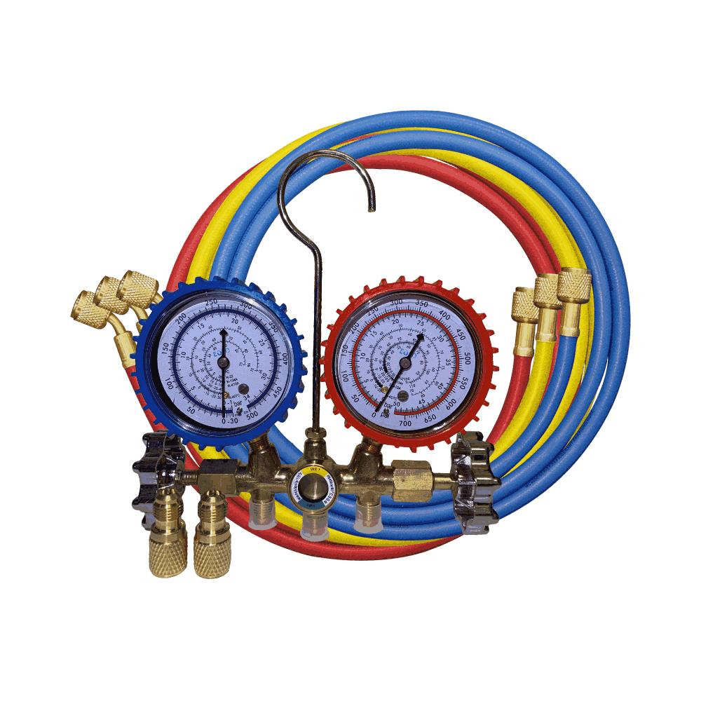 Manifold R410a -R22 - R134a - R407 + 2 Adaptadores para R410a - Eolo