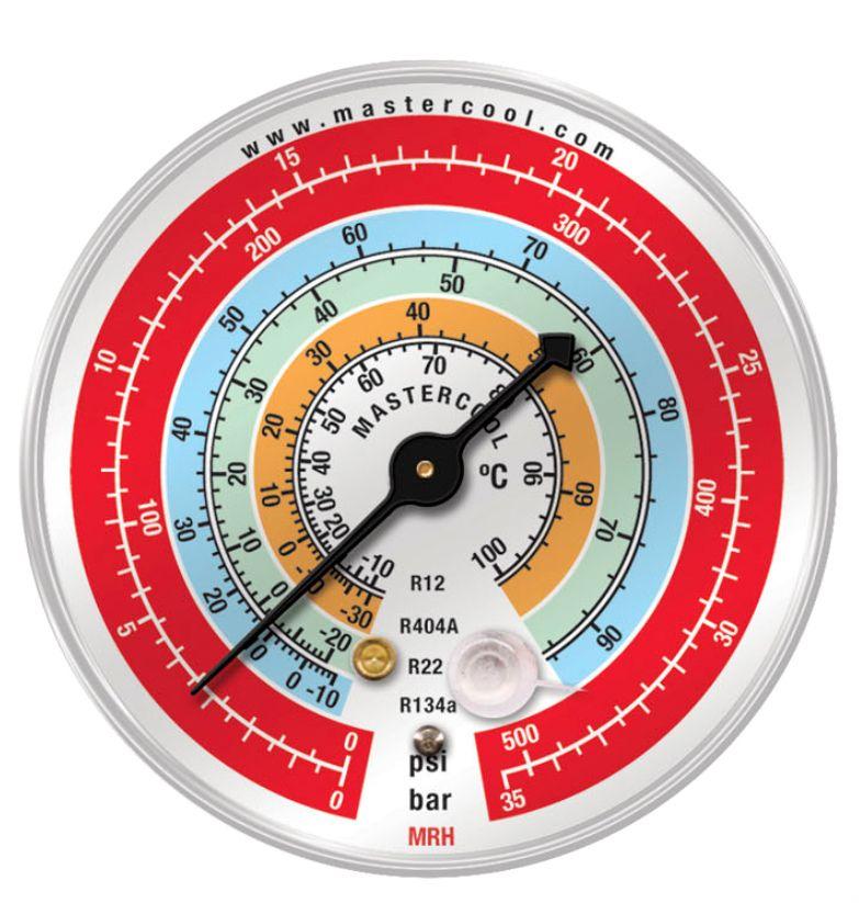 Manômetro Alta R22 / R12 / R134a / R4040a - Mastercool