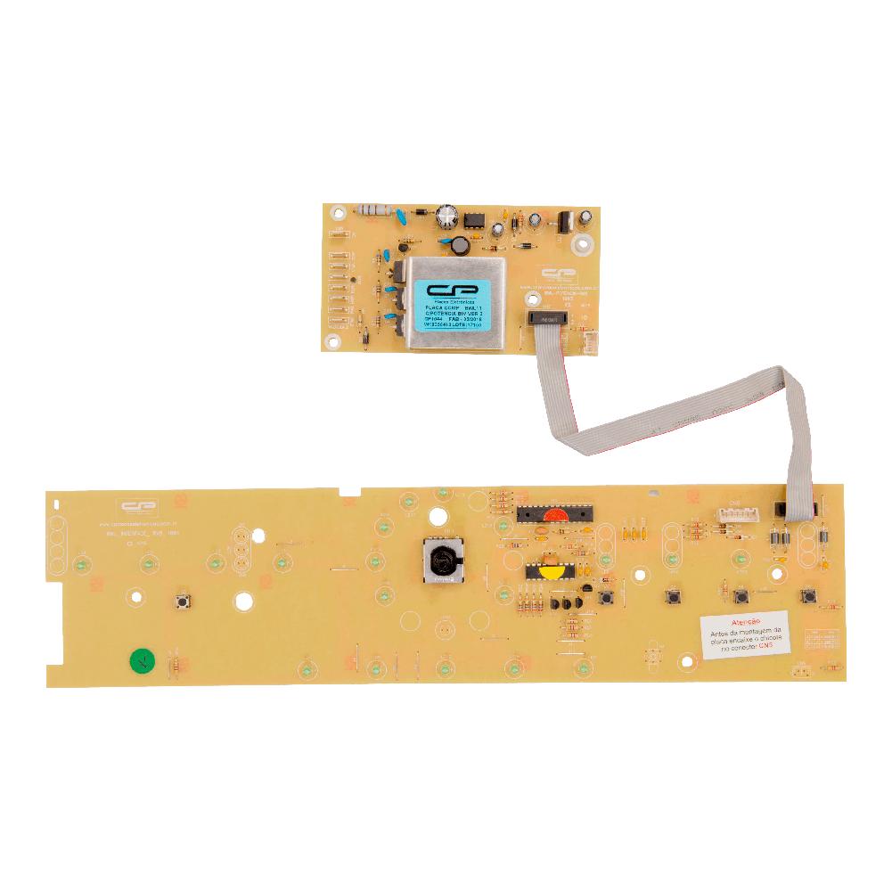 Placa compatível lavadora BWL11 V3 com potência bivolt Interface - W10356413