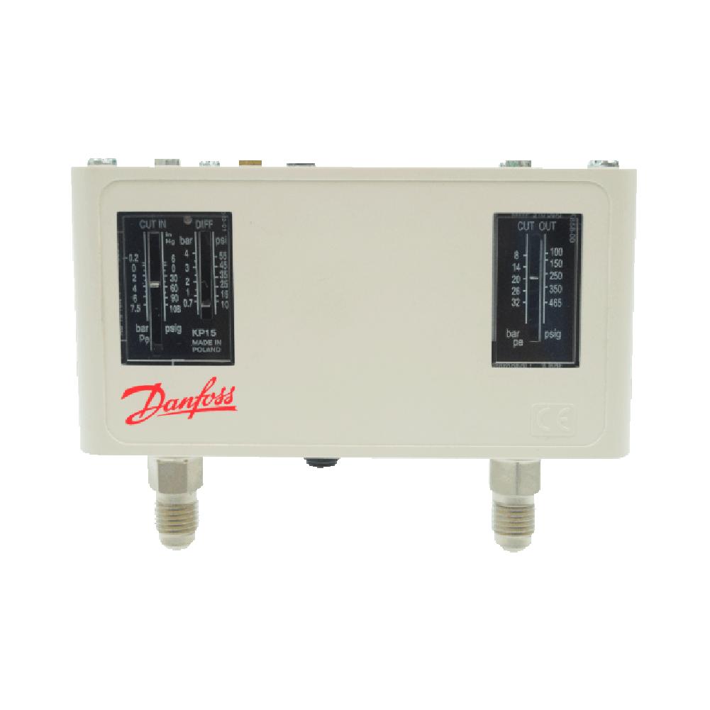 Pressostato Alta / Baixa Automático KP15 IP44 - Danfoss
